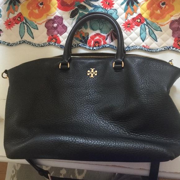 56d017b7a1e2 Tory Burch Frida black leather satchel. M 5b27fb2545c8b30057b7bf29